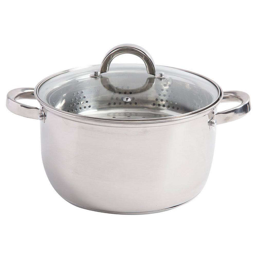 Steamer Saucepan Sangerfield 6 Qt Stainless Steel Stock Pot With Steamer Insert And Lid