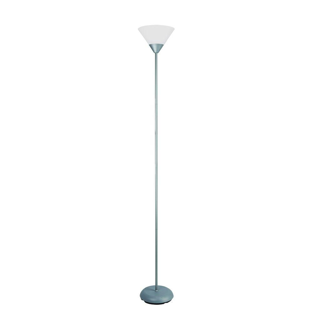 Lamp Slv Simple Designs 71 25 In Silver Stick Torchiere Floor Lamp