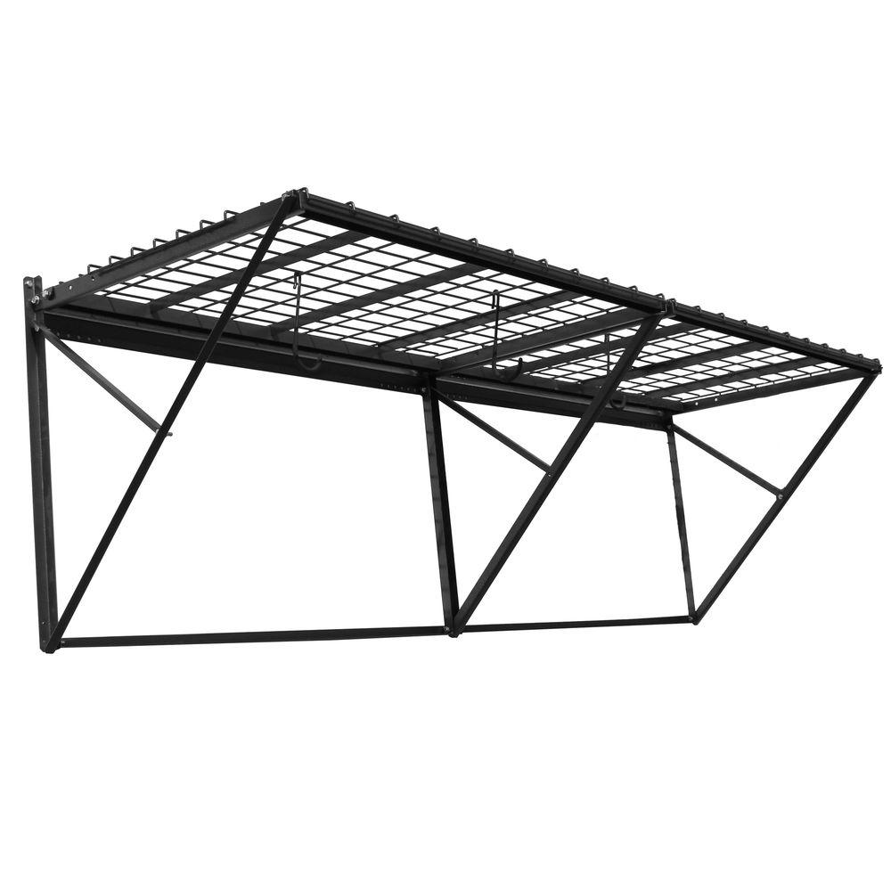 Tidy Garage Bike Rack Installation Proslat 28 In H X 8 Ft W X 28 In D Prorack Steel Shelf