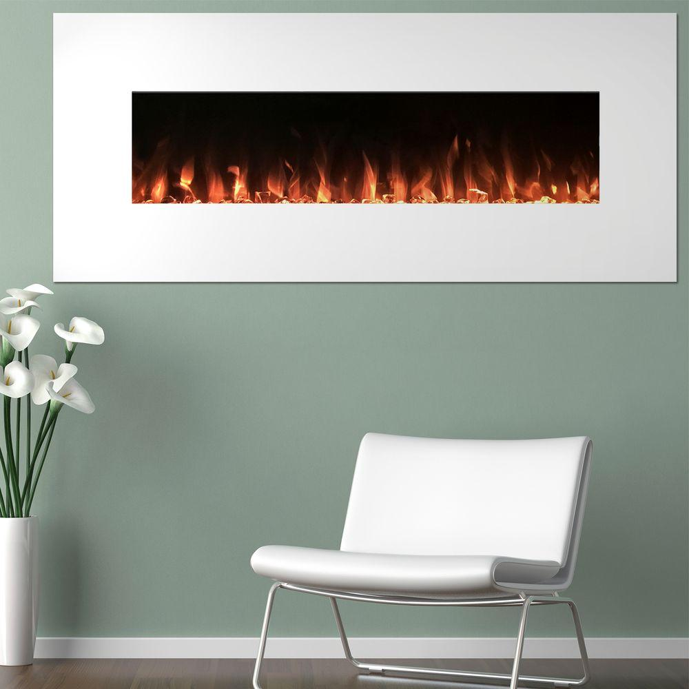 Wall Mount Fireplace Heaters Northwest 50 In Electric Fireplace Color Changing Wall In White