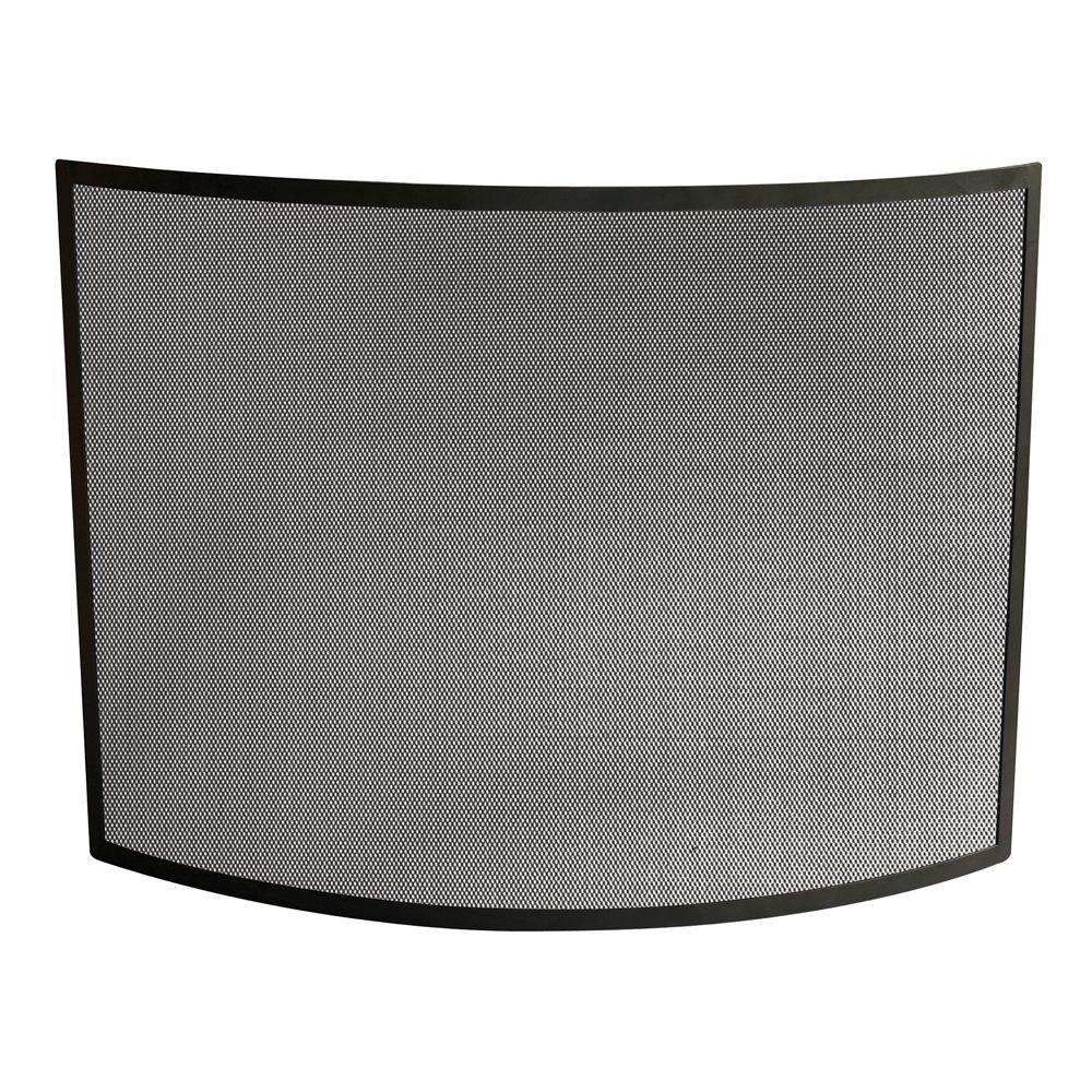 Fireplace Screen Home Depot Uniflame Curved Black Wrought Iron Single Panel Fireplace Screen