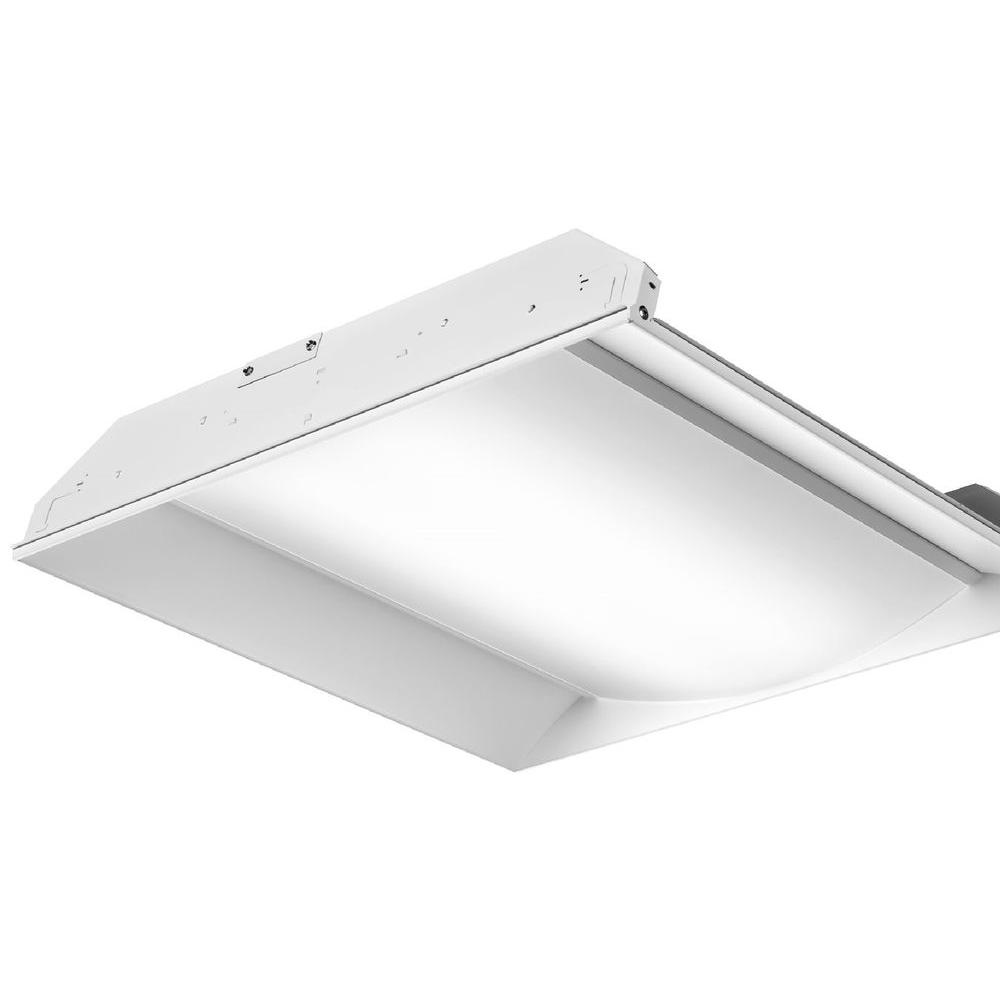 Luminaire Lighting Lithonia Lighting Fs Series 3300 Lumen 2 Ft X 2 Ft White Recessed Led Luminaire