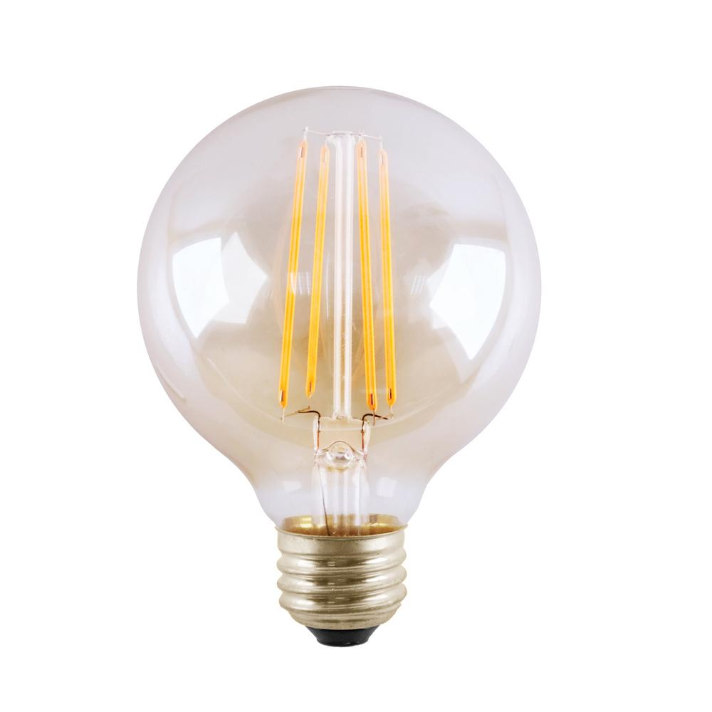 5 Watt Led Halco Lighting Technologies 60 Watt Equivalent 5 Watt G25 Dimmable Led Clear Filament Antique Vintage Light Bulb 3000k 85049