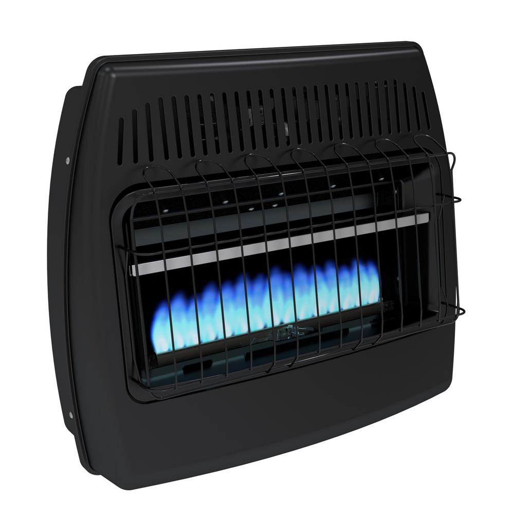 Garage Heater With Wall Thermostat Dyna Glo 30 000 Btu Blue Flame Vent Free Dual Fuel Garage Heater