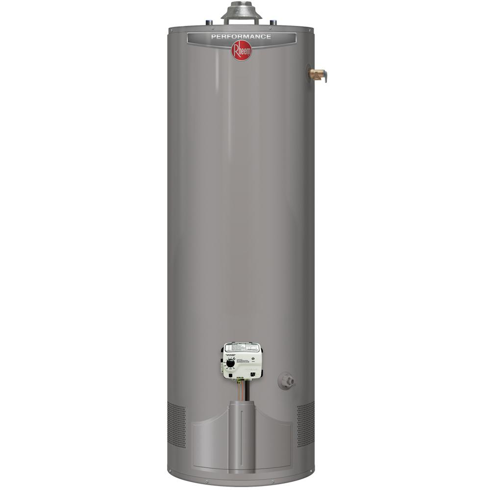 40*50 Performance 40 Gal Tall 6 Year 38 000 Btu Ultra Low Nox Uln Natural Gas Tank Water Heater