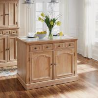Home Styles Aspen Rustic Cherry Kitchen Island With ...
