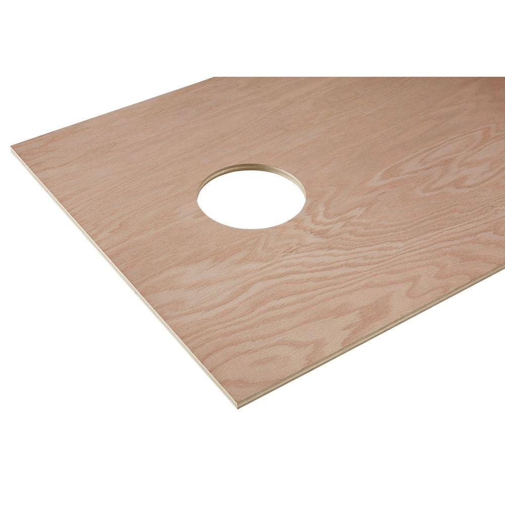 Half Inch Plywood 1 2 In X 2 Ft X 4 Ft Red Oak Plywood Corn Hole Board Top