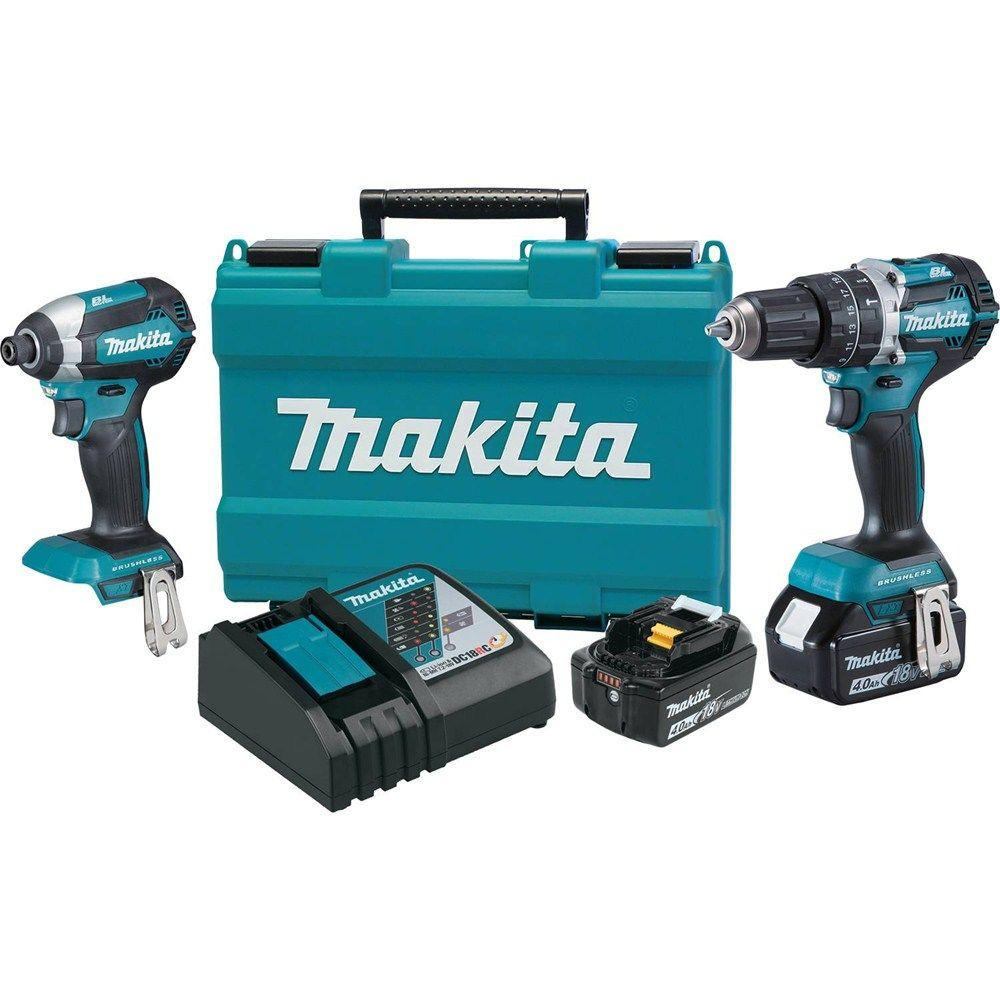Sierra De Mesa Makita 18 Volt Lxt Lithium Ion Brushless Cordless Hammer Drill And Impact Driver Combo Kit 2 Tool W 2 4ah Batteries Case