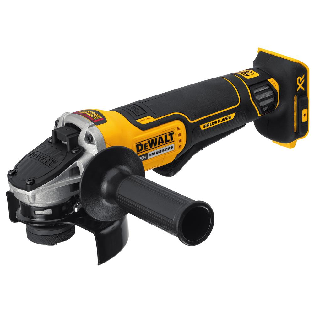 Dewalt Angle Grinder Dewalt 20 Volt Max Xr Lithium Ion Cordless Brushless 4 1 2 In Paddle Switch Small Angle Grinder W Kickback Brake Tool Only
