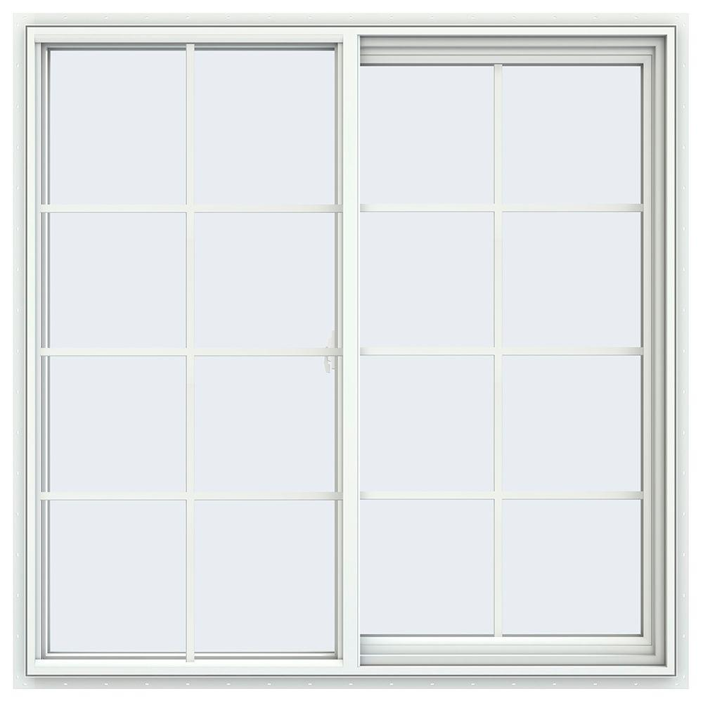 Layout Rumah Type 70 Jeld Wen 35 5 In X 47 5 In V 2500 Series White Vinyl Right Handed Sliding Window With Colonial Grids Grilles