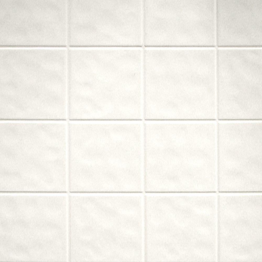 Aquatile 1 8 In X 48 In X 96 In Toned White Tileboard 709108 The Home Depot