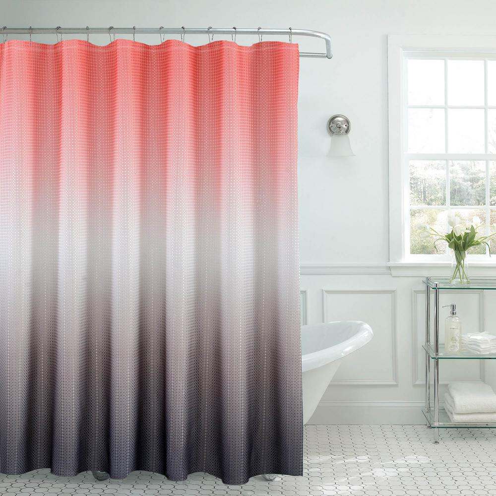 Cute Girly Shower Curtains Creative Home Ideas Ombre Waffle Weave 70 In W X 72 In L Shower
