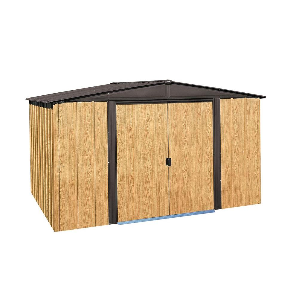 Steel Storage Sheds Arrow Woodlake 10 Ft X 8 Ft Steel Storage Shed With Floor Kit