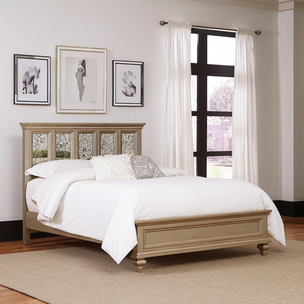 King Bed Frame Design Home Styles Visions Silver Gold Champagne King Bed Frame