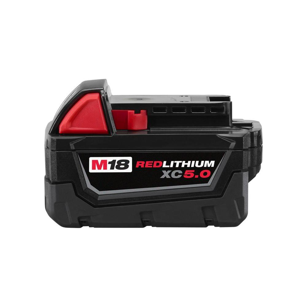 Milwaukee M18 Battery Milwaukee M18 18 Volt Lithium Ion Xc Extended Capacity Battery Pack 5 0ah