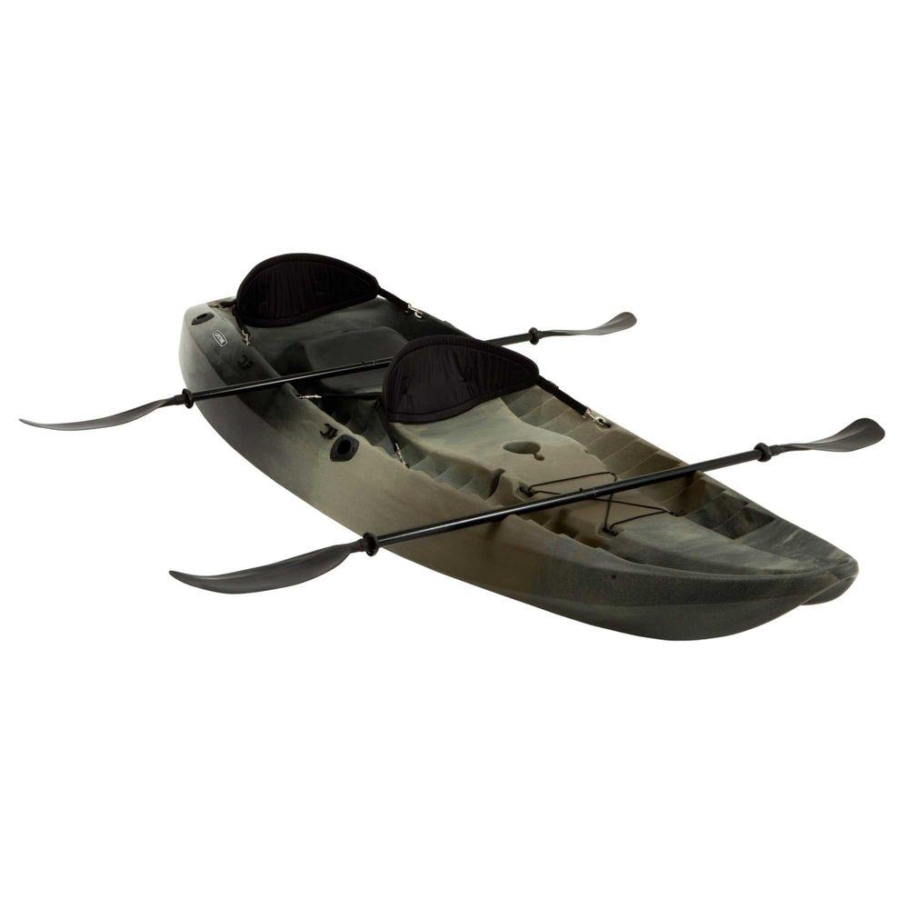 Kayak Lifetime Camo Sport Fisher Tandem Kayak With Paddles And Backrests