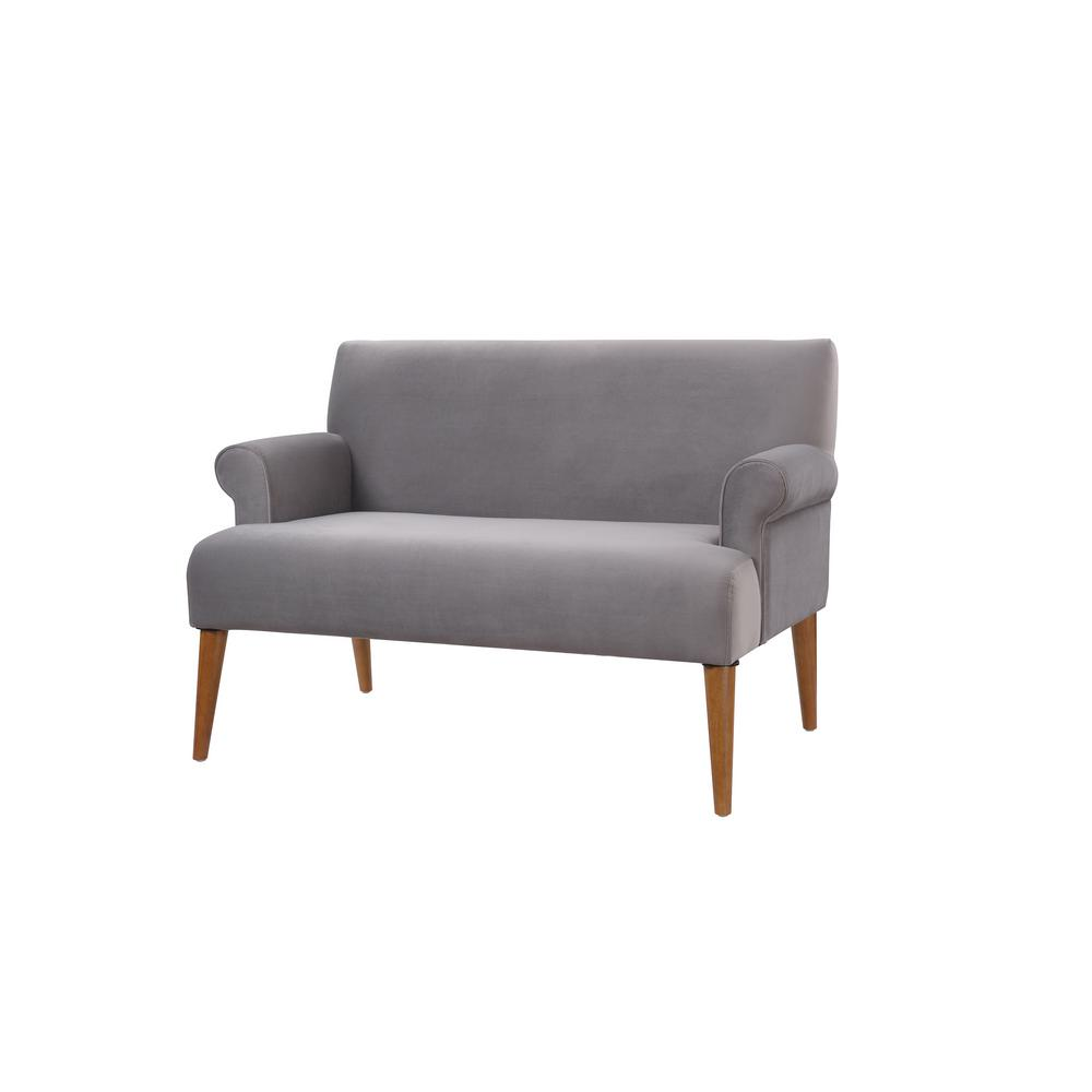 Settee No Arms Jennifer Taylor Mia Garnet Rose Tufted Accent Settee 61160 944