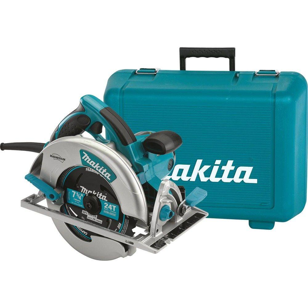 Sierra De Mesa Makita 15 Amp 7 1 4 In Corded Lightweight Magnesium Circular Saw With Led Light Dust Blower 24t Carbide Blade Hard Case