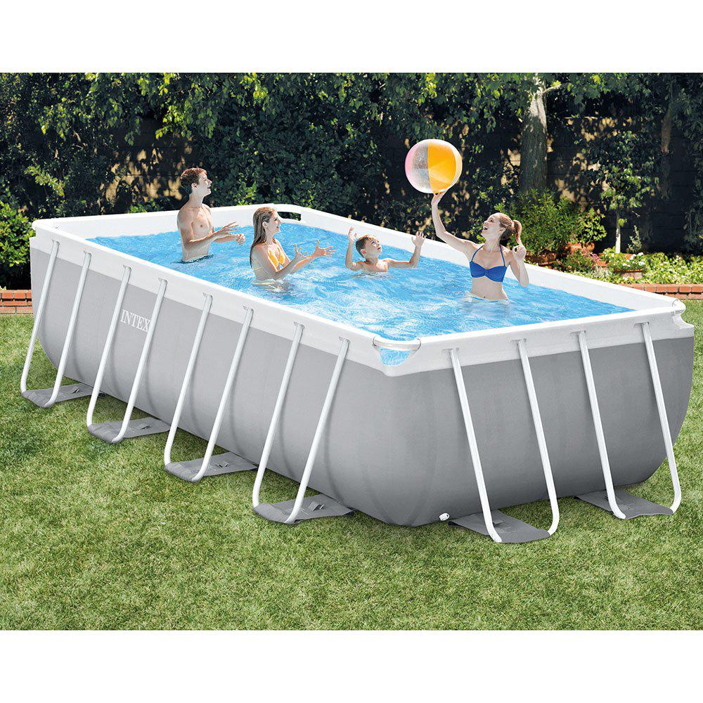 Intex Vs Bestway Review Intex 16 Ft X 8 Ft X 42 In D Rectangular Metal Frame Above Ground Pool