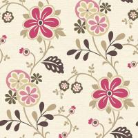 Beacon House Amelie Pink Modern Floral Trail Wallpaper ...