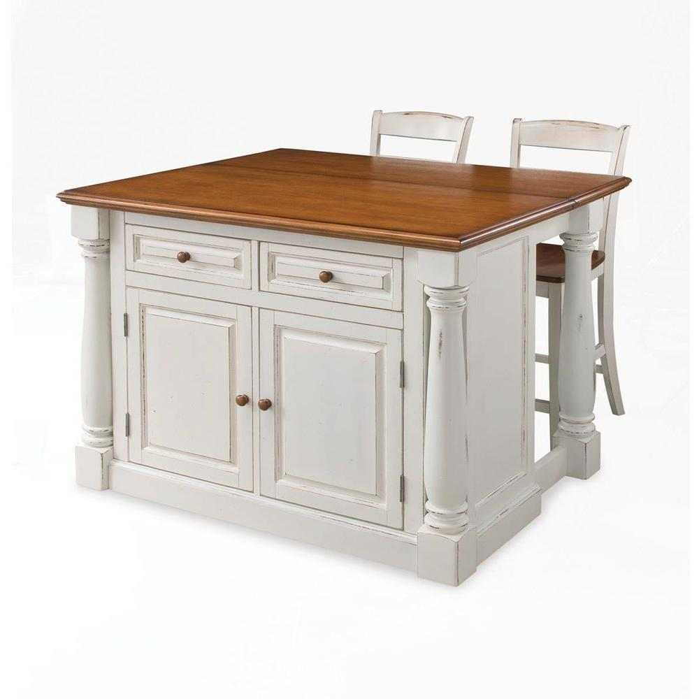 Nantucket Distressed White Finish Kitchen Island By Home Styles Home Styles Seaside Lodge Hand Rubbed White Kitchen Island