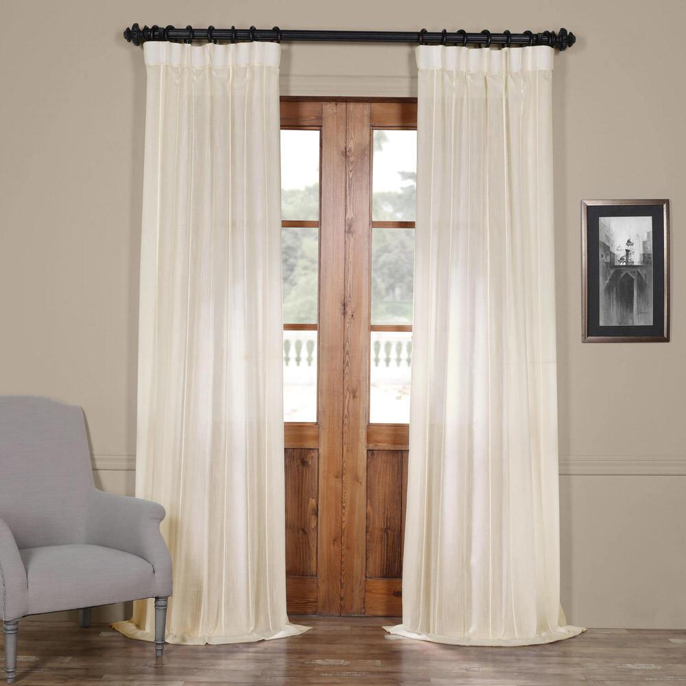 How To Make Curtain Lights Exclusive Fabrics Furnishings Aruba Striped Linen Sheer Curtain In White 50 In W X 84 In L