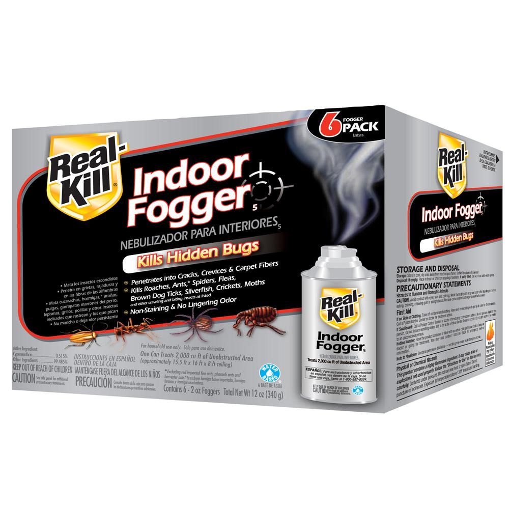 Diy Pest Control Supplies Real Kill 2 Oz Ready To Use Indoor Fogger 6 Pack