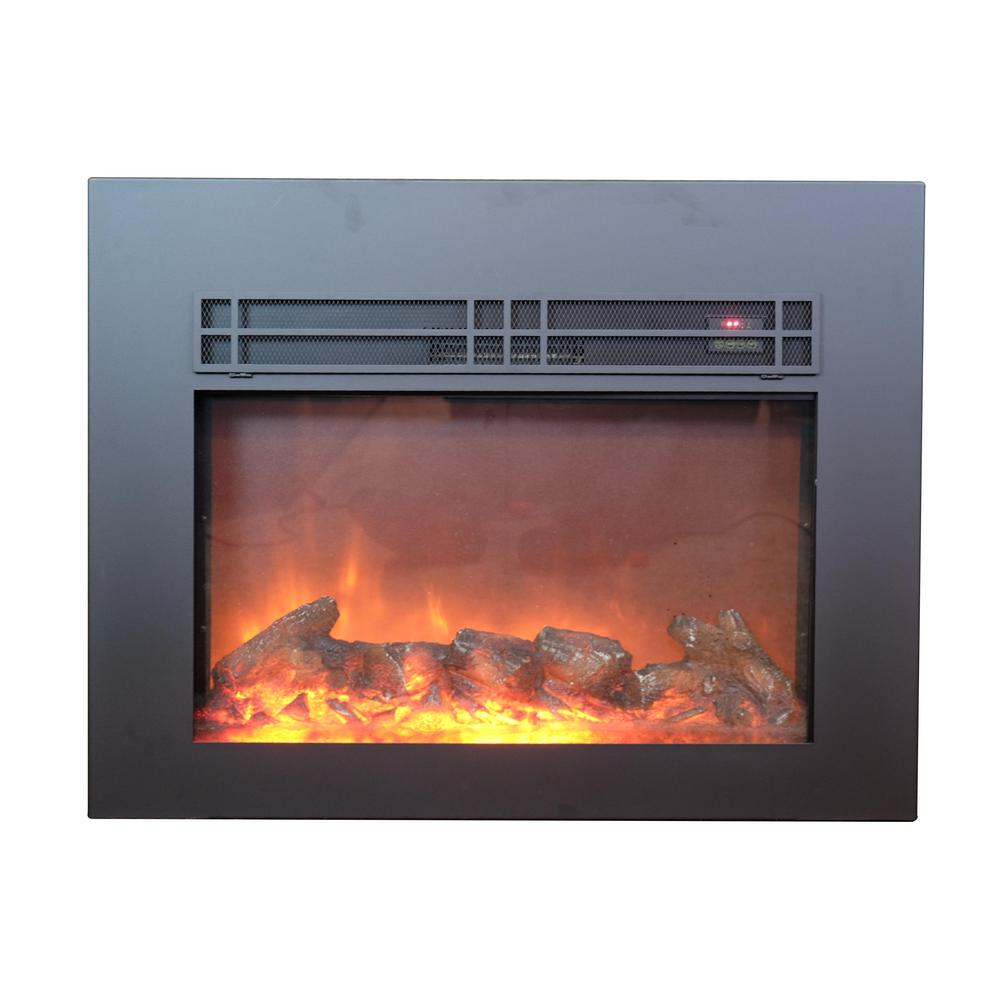 Candles For Fireplace Insert True Flame 30 In Electric Fireplace Insert In Sleek Black With Surround