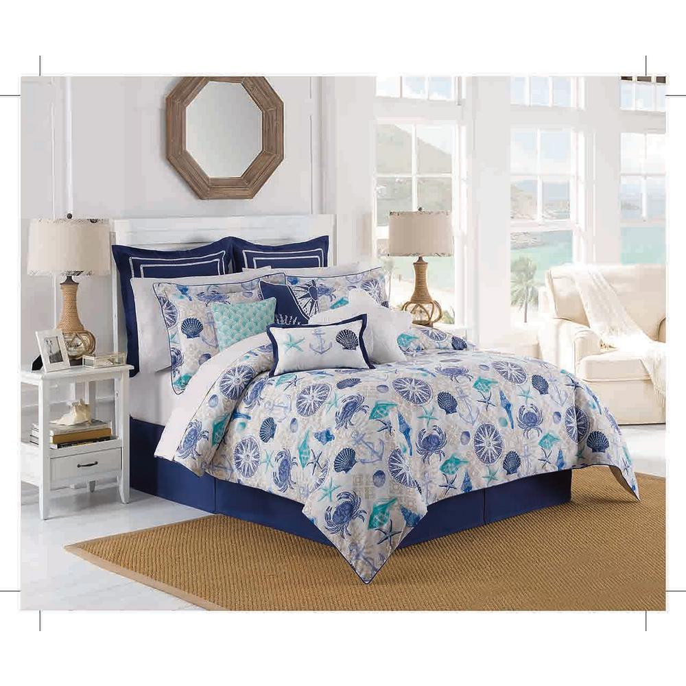Duvet And Comforter Sets Williamsburg Barnegat 4 Piece Aqua King Comforter Set
