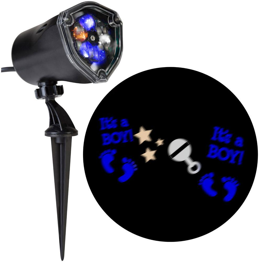 Light Projector Lightshow 11 81 In 1 Light Projection Whirl A Motion It S A Boy Little Feet Stars Rattle Bbwc Light Stake