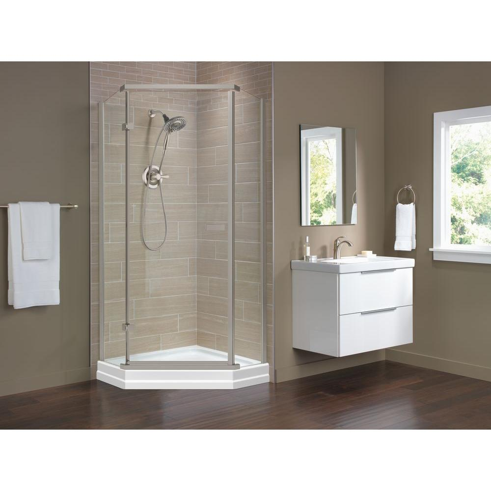 Pleasing Delta Shower Doors 422061 64 1000 Neo Angle Shower Installation Neo Angle Shower Base houzz-02 Neo Angle Shower
