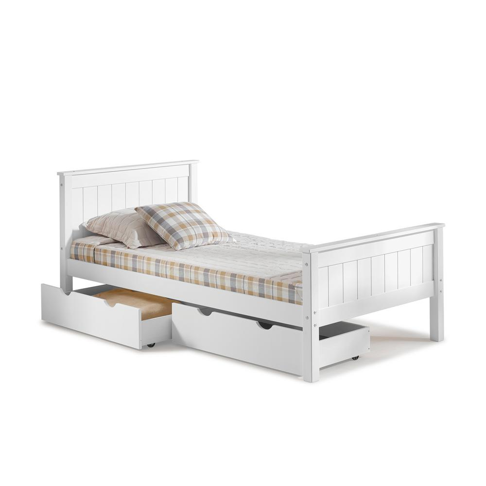 Childrens Beds With Pull Out Bed Underneath Prepac Monterey Twin Wood Kids Storage Bed Wbt 4100 2k The Home