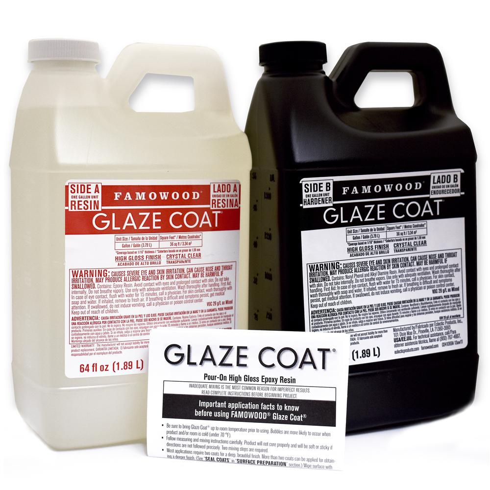 Garage Floor Coating Tucson Cost Famowood 1 Gal Glaze Coat Clear Epoxy Kit