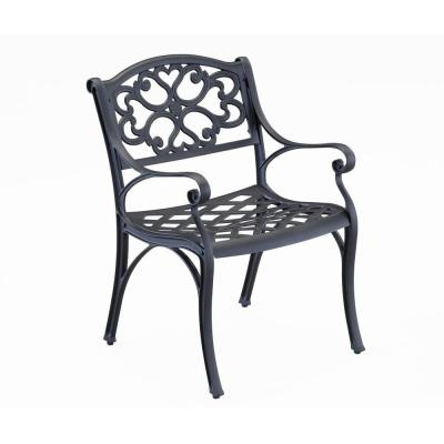 Home Styles Biscayne Black Patio Dining Chair (2-Pack)-5554-802 - The Home Depot