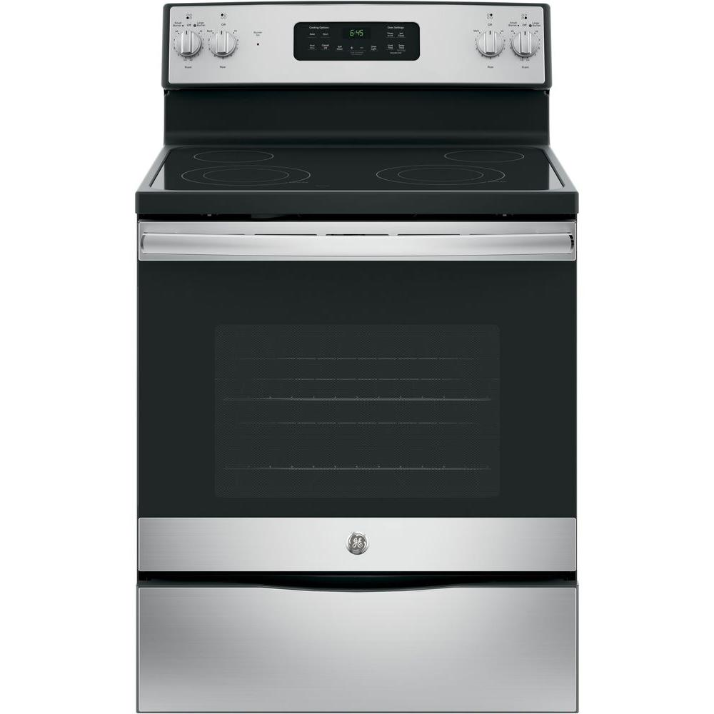 Electric Ovens For Sale Ge 30 In 5 3 Cu Ft Electric Range With Self Cleaning Oven In Stainless Steel