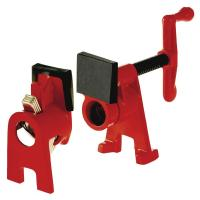 BESSEY H-Style Pipe Clamp Fixture Set for 3/4 in. Black ...