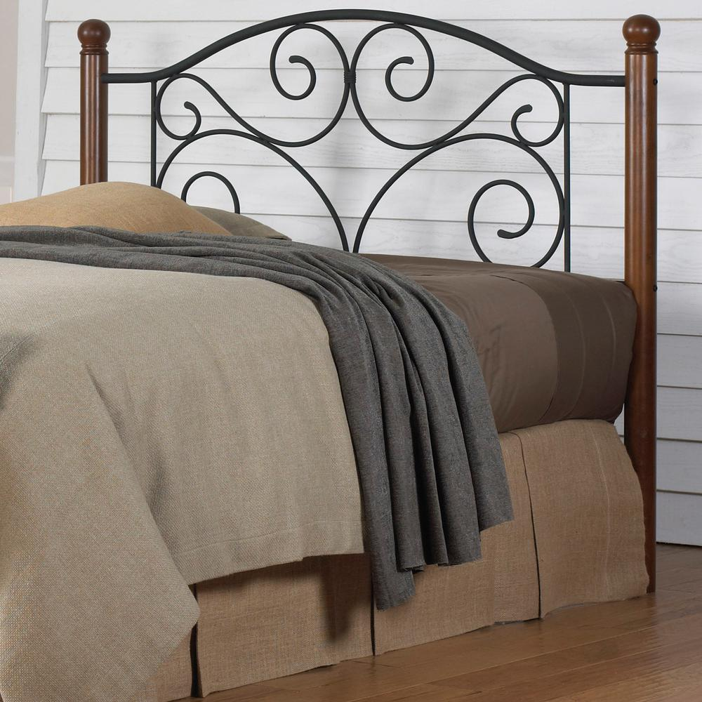 King Bed With Posts Fashion Bed Group Doral California King Size Headboard With Dark