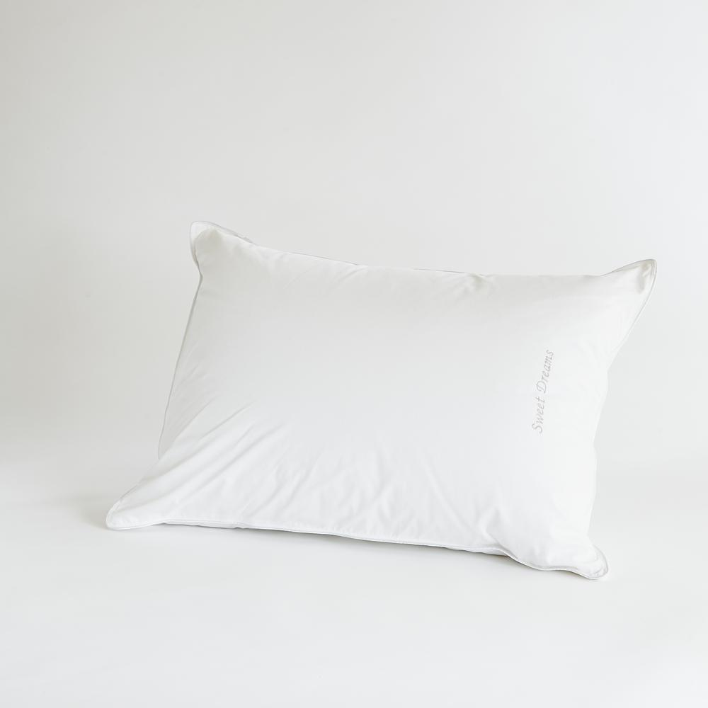 Standard Bed Pillows Breakfast In Bed Down Alternative Standard Front Sleeper Pillow With Sweet Dreams
