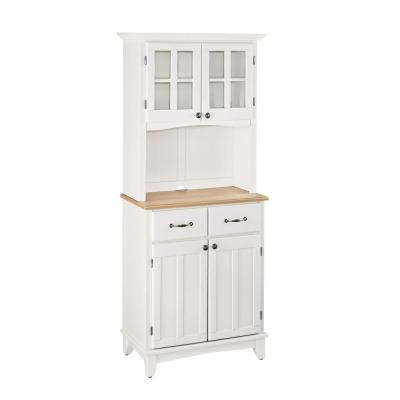 Home Styles White Buffet with Hutch-5001-0021-12 - The Home Depot