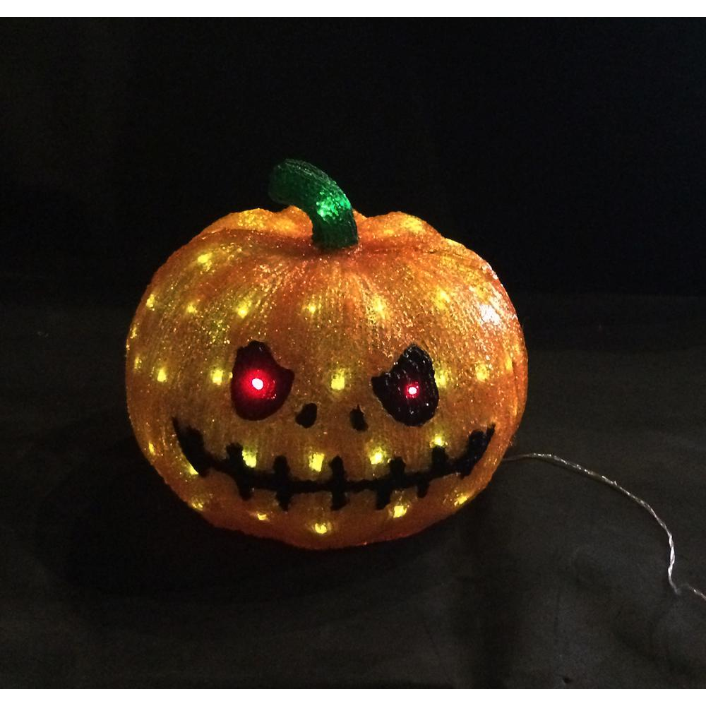 Led Halloween Lights Novolink 11 8 In 80 Light White Led Decorative Pumpkin