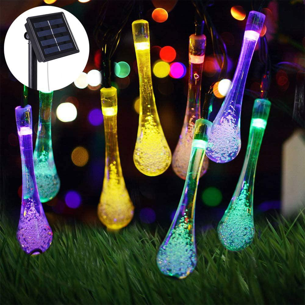 Lightsmax Outdoor 20 Ft Solar Novelty Bulb 30 Led String Light In Multi Color Sslx30 The Home Depot