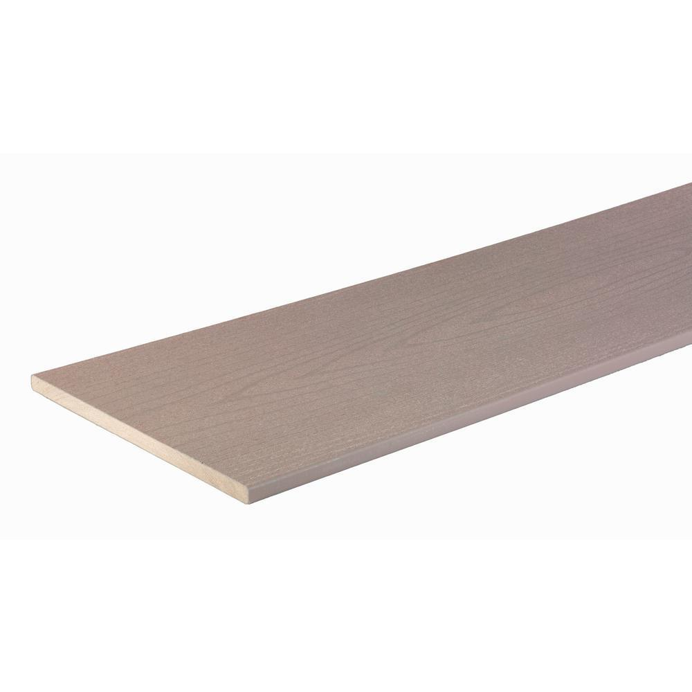 Fascia Board Timbertech Harvest Collection 5 In X 11 75 In X 12 Ft Pvc Fascia Board In Slate Gray