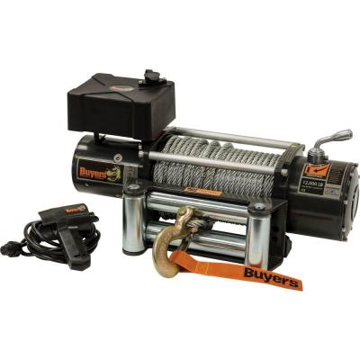 Max Load 12,000 lb Capacity 12-Volt Electric Recovery Winch with
