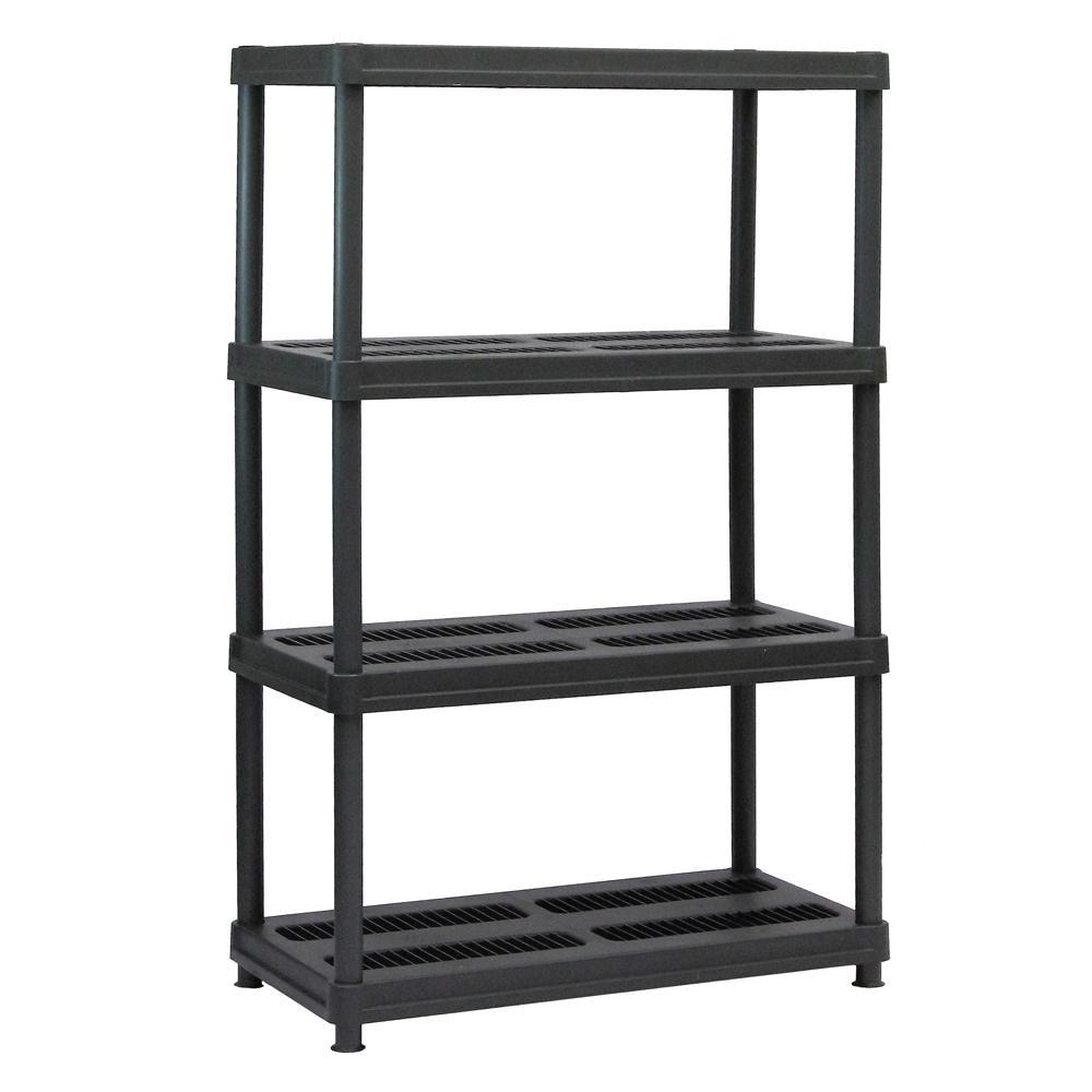 Sandusky 56 In H X 36 In W X 18 In D 4 Shelf Black