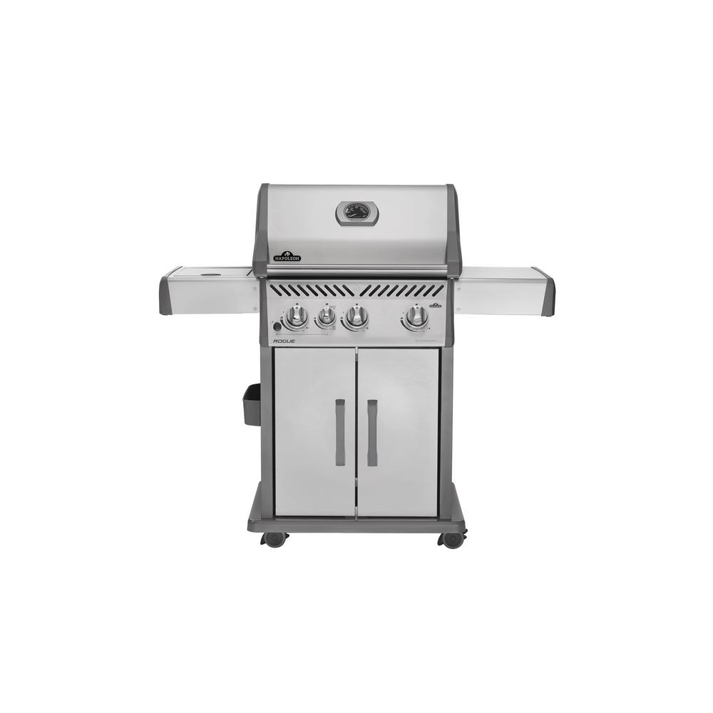 Napoleon Grill Sizzle Zone Napoleon Rogue 425 With Infrared Side Burner Propane Gas Grill In Stainless Steel
