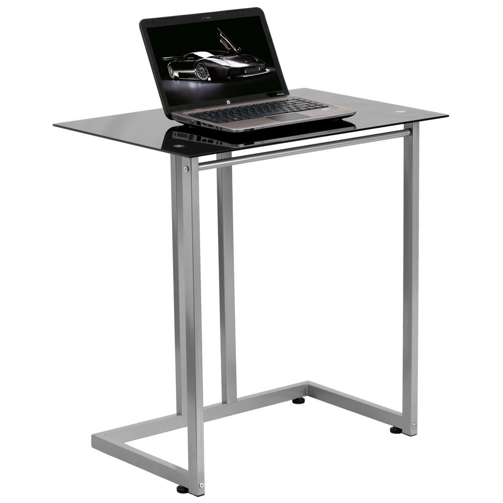 Modern Compact Computer Desk Flash Furniture Black Computer Desk