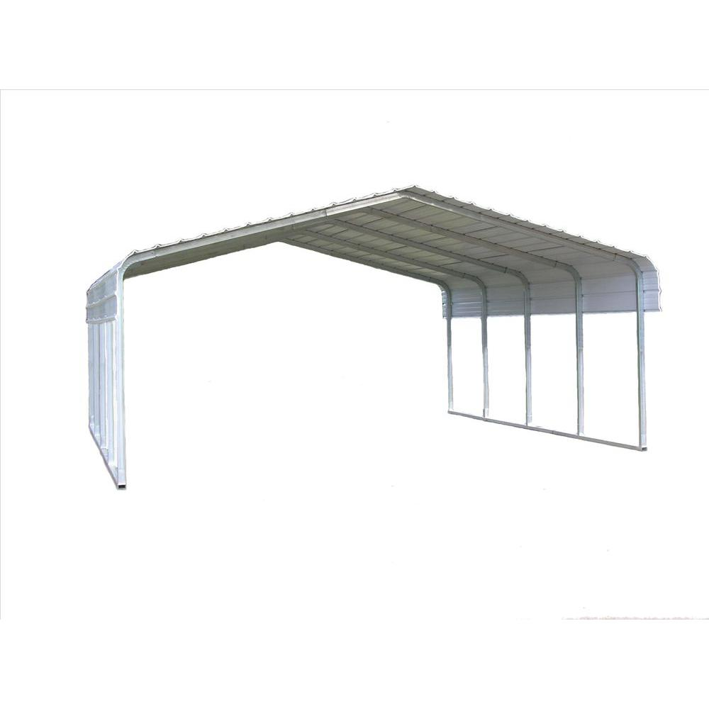 Zeichnung Carport Versatube 18 Ft W X 20 Ft L X 7 Ft H Steel Carport