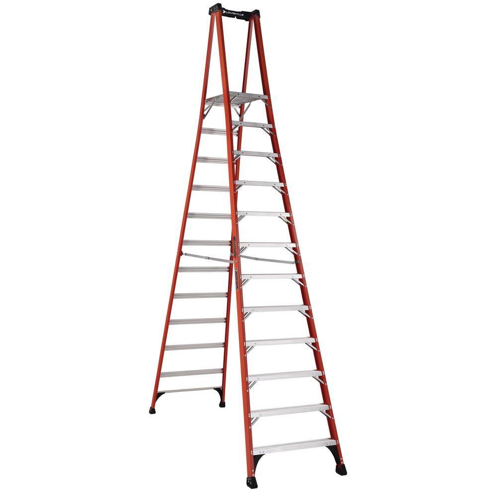 Louisville Ladder 12 Ft Fiberglass Pinnacle Pro Platform