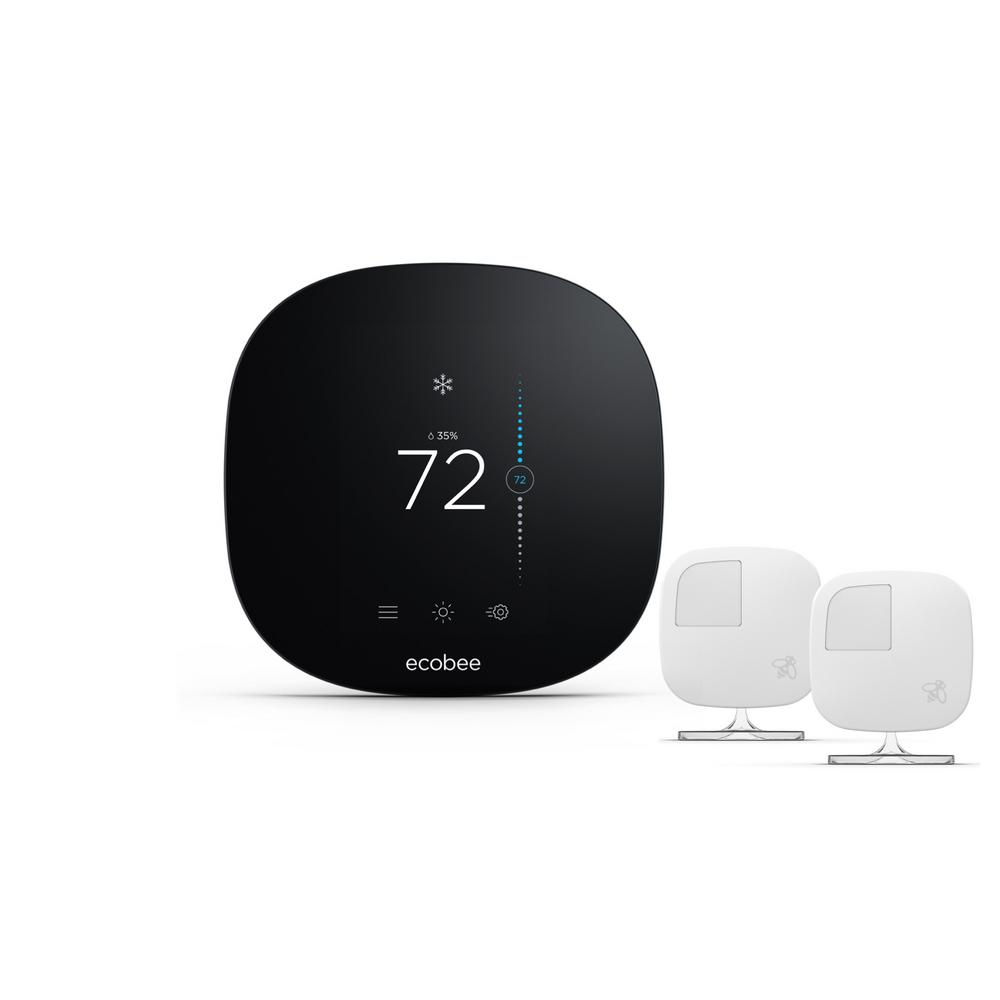 Ecobee Sensor 3 Lite 7 Day Programmable Smart Thermostat With 2 Pack Room Sensors