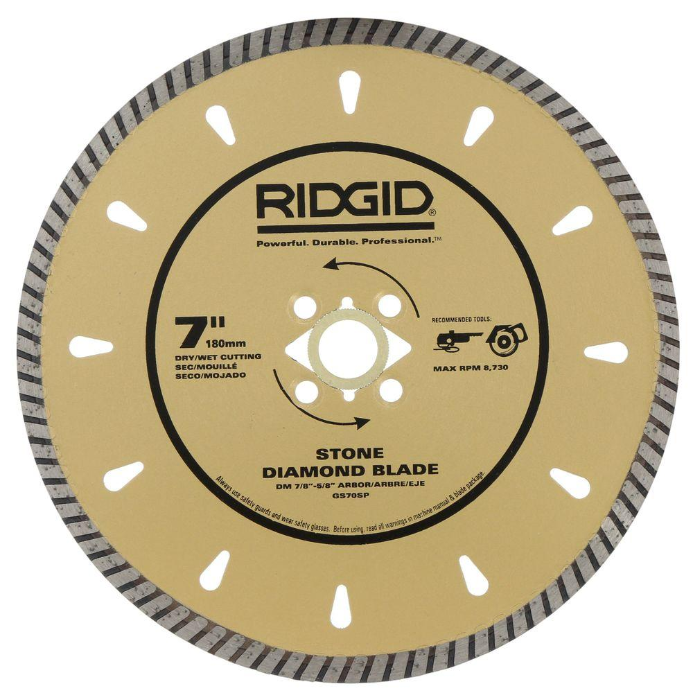 Stone Bench Tops Off Cuts Ridgid 7 In Diamond Stone Blade For Cutting Granite Marble And Hard Stone